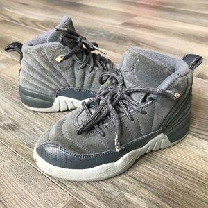 Nike Air Jordan 12 Retro Preschool Gray Sneakers